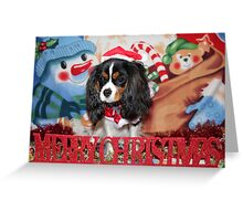 Merry Christmas King Charles Cavalier Spaniel Greeting Card
