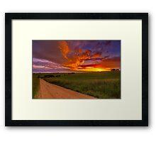 """Barrabool Sundown"" Framed Print"
