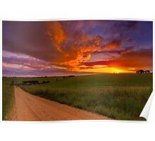 """Barrabool Sundown"" Poster"