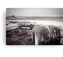 Newcastle Ocean Baths - Pump House B&W  Canvas Print
