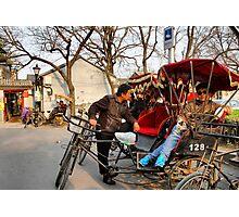 Rickshaws in Beijing city Photographic Print