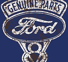 Oil Stained Ford Sign by tanyarose