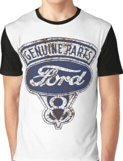 Oil Stained Ford Sign Graphic T-Shirt