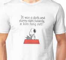 Snoopy - A kiss rang out Unisex T-Shirt
