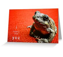 I Toadily Love You Greeting Card