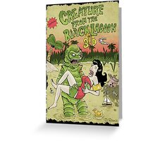 Creature from the black lagoon 3d Greeting Card