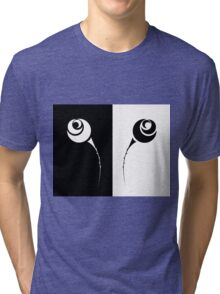 set of black and white rose Tri-blend T-Shirt