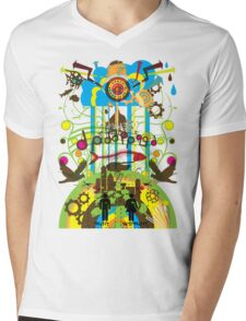 Shangri-La Mens V-Neck T-Shirt