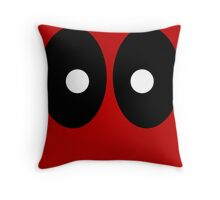 Red field behind black ellipses and white circles. Throw Pillow