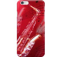 Red Saxophone iPhone Case/Skin