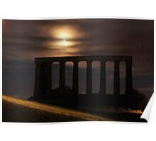The National Monument on Calton Hill in Edinburgh Poster