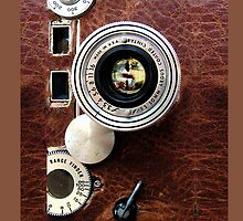 Vintage Classic retro leather camera by Johnny Sunardi