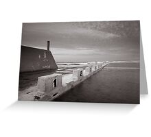 Newcastle Ocean Baths - B&W  Greeting Card