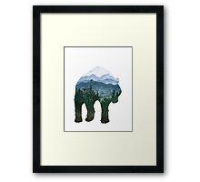 Bear - Alaskan Animals Collection Framed Print