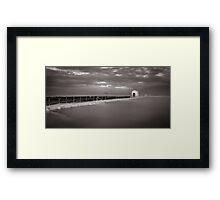 Merewether Baths - B&W Framed Print
