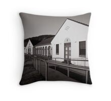 Nobbys Beach - B&W Throw Pillow