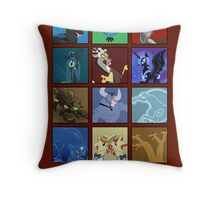 MLP - Antagonists and Monsters Throw Pillow