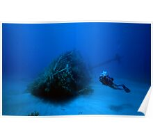 Wreck with a Diver Poster