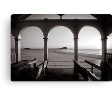 Nobbys Beach - B&W Canvas Print