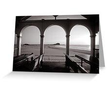 Nobbys Beach - B&W Greeting Card