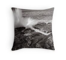Bogie Hole - Black and White Throw Pillow