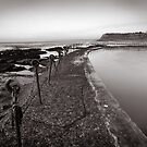 Newcastle Beach - B&W by 4thdayimages