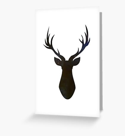 Stag (Stars) Greeting Card