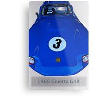 1965 Ginetta G4R Racecar Metal Print