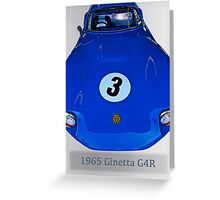 1965 Ginetta G4R Racecar Greeting Card