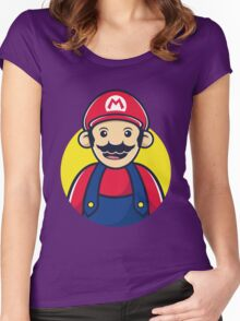 Super Mario Women's Fitted Scoop T-Shirt