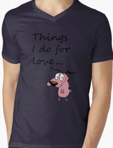 COURAGE THE COWARDLY DOG Mens V-Neck T-Shirt
