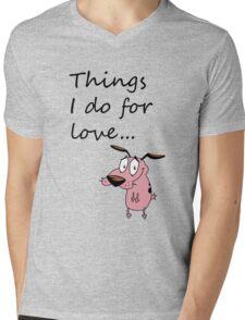 COURAGE THE COWARDLY DOG Mens V-Neck T-Shirt
