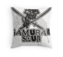 SAMURAI_SOUL Throw Pillow