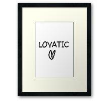 Lovatic Framed Print