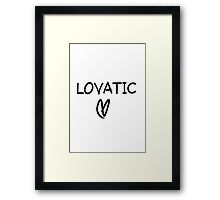 Lovatic Framed Print