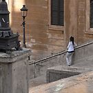 Solitude on the Steps by lissygrace