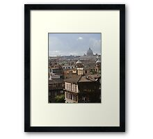 Views Over Rome Framed Print
