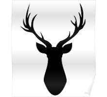 Stag (Black) Poster