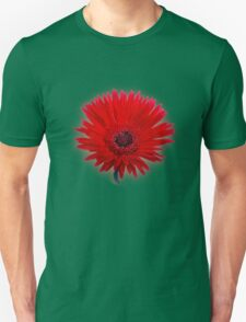 Red Painted Daisy T-Shirt