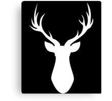 Stag (White) Canvas Print