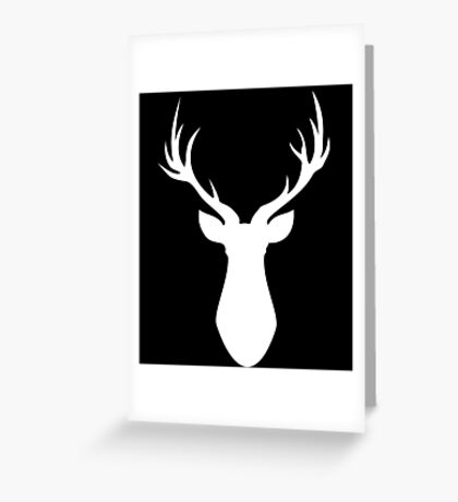 Stag (White) Greeting Card