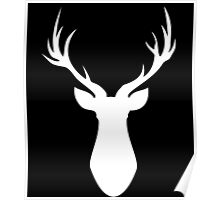 Stag (White) Poster