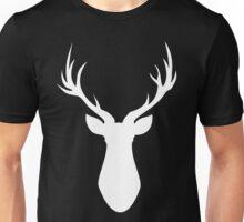 Stag (White) Unisex T-Shirt