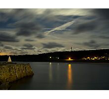 Douglas Quay & Braye at night Photographic Print