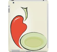 background for menu with pepper and plate iPad Case/Skin