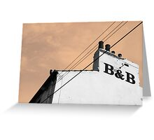 Old Abandoned B&B Greeting Card