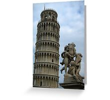 The leaning tower of Pisa, Pisa, Italy Greeting Card