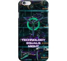 Technology Equals Might iPhone Case/Skin