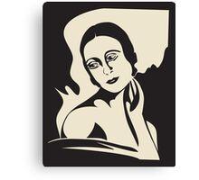 prima ballerina -  black and white version Canvas Print