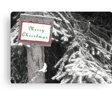 Splash of Color Christmas Card  Canvas Print